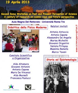 Second Roma Workshop on Past and Present Perception of Science